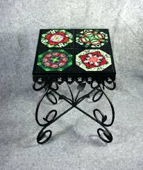 Wrought Iron Patio Side Table Black Wrought Iron Side Table With Glass Top Wrought Iron Coffee