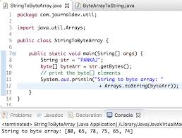 video format converter java string to byte array byte array to string in java journaldev