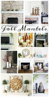 beautifully simple blue u0026 green fall mantel decor the happy housie