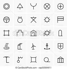 vector clip art of japanese map symbols set of japanese map