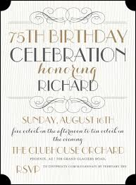 words for birthday invitation 75th birthday invitations 50 gorgeous 75th party invites
