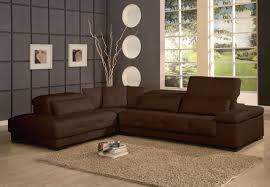 Living Room Sectional Couches Furniture Bella Brown Modern Leather Sectional Sofa And Modern