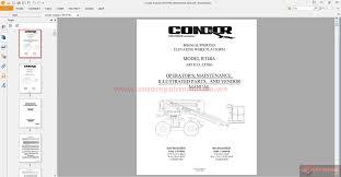 condor scissors lift rt48a 92258 parts book auto repair manual