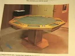Octagon Poker Table Plans How To Plans For Poker Tables Youtube