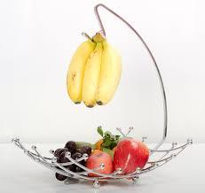 Decorative Fruit Bowl by Amazon Com Fruit Basket With Banana Holder Luxe Premium U0027s Fruit