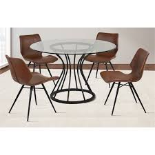 armen living coffee table armen living zurich dining chair in vintage coffee set of 2