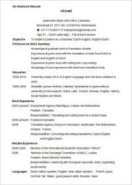 Cv Vorlage Englisch Usa Gallery Of Luck With Your American Resume American Resume