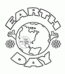 earth day logo coloring page for kids coloring pages printables