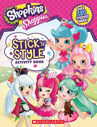 shopkins shoppies stick u0027n u0027 style activity book toys