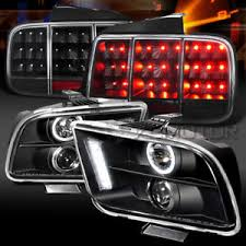 ebay mustang headlights 05 09 mustang black halo projector headlights sequential led