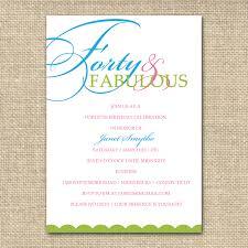 18th Birthday Invitation Card Designs 40th Birthday Invitation Wording Plumegiant Com