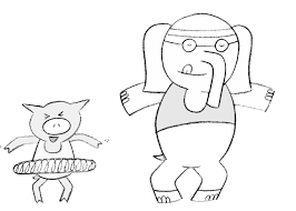 coloring pages elephant and piggie mo willems coloring pages elephant and piggie with glum for gerald