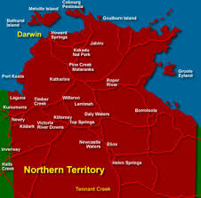 territories of australia map the northern territory australia with map