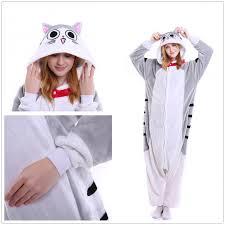 unisex pajamas cheese tabby cat nightwear pyjamas