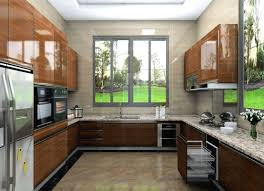 lacquered kitchen cabinets custom u shape high gloss lacquer kitchen cabinets with granite