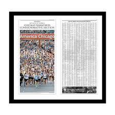 Chicago Marathon Map Chicago Marathon Commemorative Results Print Chicago Tribune Store