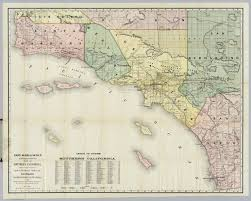 Colorado Map Of Counties by Southern California David Rumsey Historical Map Collection