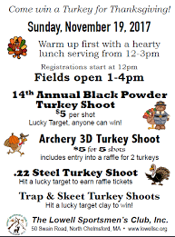 turkey shoot hearty lunch 2017 lowell sportsmen s club
