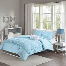 light blue girls bedding amazon com modern girls kids teen bedding aqua light blue tufted
