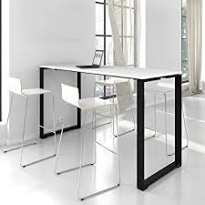 stehtisch küche stehtisch jazz 180 x 70 cm groß im edlen schwarz weiß bartisch