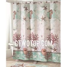 Shabby Chic Shower Curtain Hooks by Beige And Green Coral Unique Designer Waterproof Shower Curtains