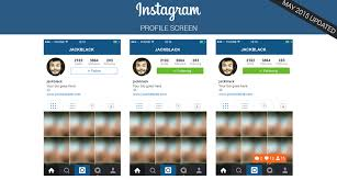instagram layout vector illustrator free instagram profile screen layout psd on behance