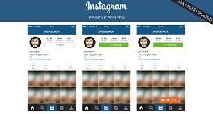 layout instagram pc free instagram profile screen layout psd on behance