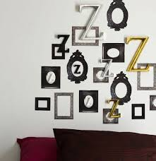 bedroom wall decoration ideas irrational empty picture frame art