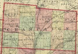 County Maps Of Ohio by 1875 Map Of Champaign County Ohio