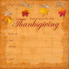 thanksgiving party invites free printable thanksgiving invitations templates template