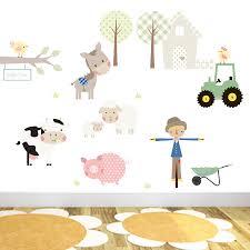 roommates farm animal wall stickers animal stickers nursery blog farm wall stickers