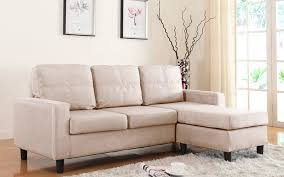 Small Space Sectional Sofa by Modern Reversible Small Space Configurable Linen Sectional Sofa