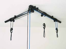 Bicycle Ceiling Hoist by The Horizontal Floaterhoist Lets You Hang Your Bike From The