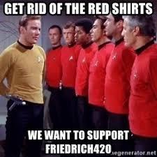 Redshirt Meme - red shirt star trek meme 28 images star trek red shirts memes