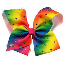 hair bow jojo siwa large signature hair bow rainbow jcpenney