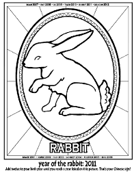 Chinese New Year Year Of The Rabbit Coloring Page Crayola Com Rabbit Colouring Page