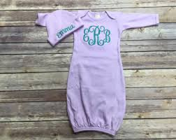 Monogram Baby Items Baby Gown Etsy