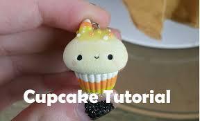 halloween candy corn polymer clay cupcake tutorial youtube