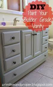 How To Remove Bathroom Vanity Basic Boring Builder Grade Oak Vanity Added Trim And Paint And It