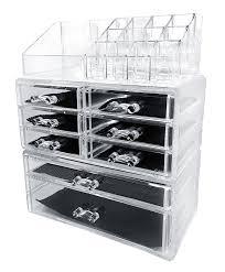 amazon com sodynee acrylic makeup cosmetic organizer storage