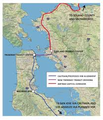 Bart System Map by Options And Opportunities For A New Transbay Transit Crossing