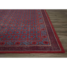 8x10 Wool Area Rugs Jaipur Living Classic Border Pattern Red Blue Wool Area Rug 8x10