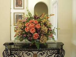 captivating silk floral arrangements for dining room table 94 with