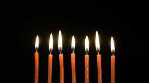 candles for a birthday are burning then candles are extinguished