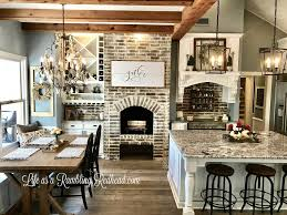 Kitchen Island With Bench Seating Love The Table With Bench Seat At The Window Love The Wood Beams
