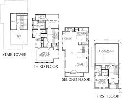 3 Story Townhome Floor Plan With Roof Deck