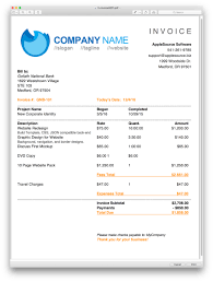 Illustration Invoice Template Applesource Software Timenet Invoice Templates Time Tracking