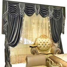 European Lace Curtains Custom Curtains High Class European Luxury Simple Grey Color