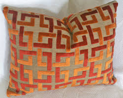 contemporary pillows for sofa orange throw pillow contemporary geometric luxury pillows burnt