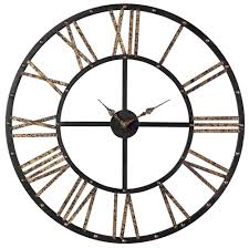 large open face wall clock